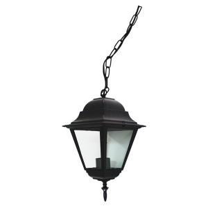Светильник садово-парковый Классика 4105 E27 150*150*350мм черный (на цепи 500мм)