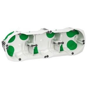 Трехпостовая установочная коробка гл.40 подрозетник герметичный Multifix Air IP40 Schneider Electric
