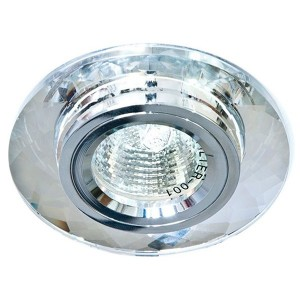 Светильник 8050-2 точечный MR16 G5.3/GU5.3 серебро-серебро круг