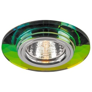 Светильник 8050-2 точечный MR16 G5.3/GU5.3 7-мультиколор-серебро круг