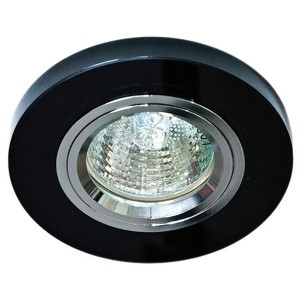 Светильник 8060-2 точечный MR16 G5.3/GU5.3 черный-серебро/Black-Silver круг