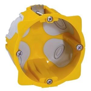 Установочная коробка диаметр 67мм глубина 40мм подрозетник герметичный EcoBatibox Legrand