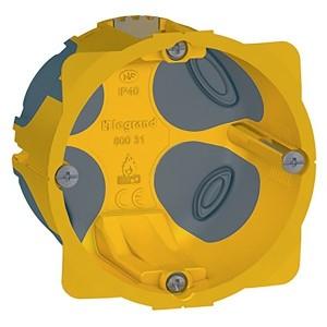 Установочная коробка диаметр 67мм глубина 50мм подрозетник герметичный EcoBatibox Legrand