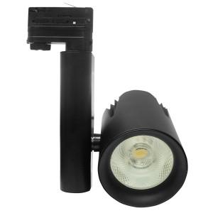 Трековый трехфазный светодиодный светильник Foton FL-LED LUXSPOT-S 45W 3000K 230V BLACK 4500Lm
