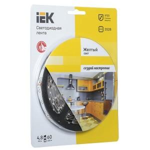 Лента LED 5м  блистер LSR-3528Y60-4.8-IP20-12V IEK-eco желтый