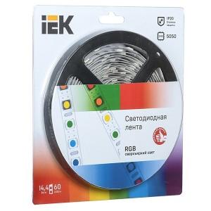 Лента LED 5м  блистер  LSR-5050RGB60-14,4-IP20-12V IEK