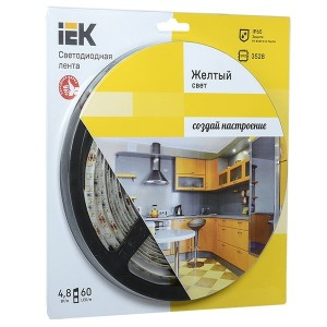 Лента LED 5м  блистер LSR-3528Y60-4.8-IP65-12V IEK-eco желтый