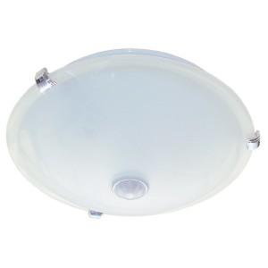 Светильник НПО3231Д белый 2х25 патрон Е27 под лампы LED/КЛЛ с датчиком движения ИЭК