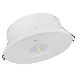 Светильник аварийн EM DL DN120 MT 3h ANTIPANIC 4W 4000K 235Лм IP20 белый d140x48.5mm