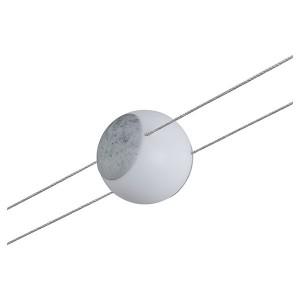 Светильник Paulmann LED 2Line Spot Emma для тросовой системы 5W 280lm 2700K 24V D92mm цвет бетон
