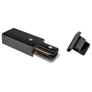 Комплект торцевых элементов PTR EC-BL чёрный Jazzway (сетевой коннектор и торцевая заглушка)