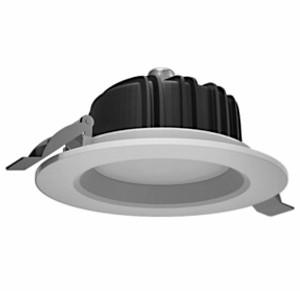 Cветильник светодиодный ВАРТОН Downlight круглый встраиваемый 190*75 16W 4000K IP54 RAL9010 белый