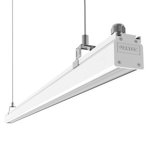 Светодиодный светильник ВАРТОН Mercury Mall IP54 1450x54x58 мм акрил 52W 4000К белый RAL9003