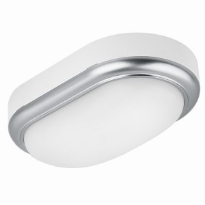 Светильник накладной LED ДПО Антарес 8Вт 4000К овал 168*100*58 мм мат.серебро IP54 TDM