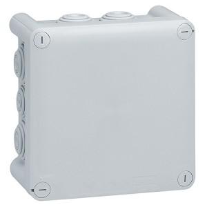 Коробка квадратная Legrand Plexo IP 55 130x130/74 IK 07 10 кабельных вводов серый