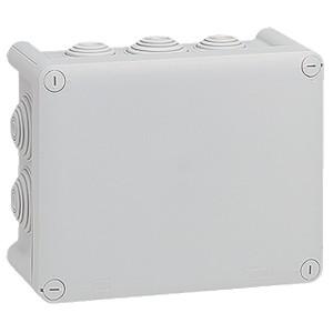 Коробка квадратная Legrand Plexo IP 55 180x140/86 IK 07 10 кабельных вводов серый