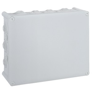 Коробка квадратная Legrand Plexo IP 55 360x270/124 IK 07 24 кабельных вводов серый
