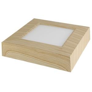 Светильник накладной светодиодный квадрат Даунлайт СПО (сосна) 6 Вт 120*120*32 мм 3000К TDM