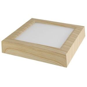 Светильник накладной светодиодный квадрат Даунлайт СПО (сосна) 12 Вт 170*170*32 мм 3000К TDM