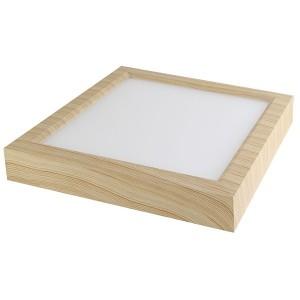 Светильник накладной светодиодный квадрат Даунлайт СПО (сосна) 18 Вт 225*225*32 мм 3000К TDM