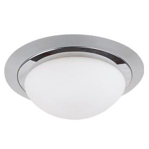 Светильник потолочный Круг хром 2х60Вт E27 IP 44 СП 01 TDM