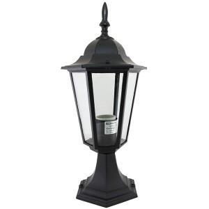 Светильник 6060-04Р садово-парковый шестигранник, 60 Вт, стойка, черный, в разборе TDM