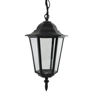 Светильник 6060-05Р садово-парковый шестигранник, 60 Вт, подвес, черный, в разборе TDM