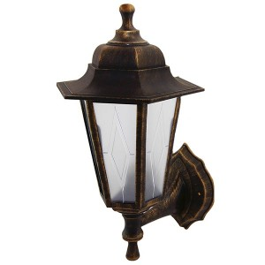 Светильник садово-парковый НБУ 06-60-001 шестигранник, настенный, пластик, бронза TDM