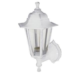 Светильник садово-парковый НБУ 06-60-001 шестигранник, настенный, пластик, белый TDM