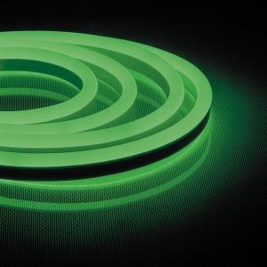 Cветодиодная неоновая LED лента Feron LS720 120SMD(2835)/м 9,6W/м зеленый 220V IP67 длина 50м