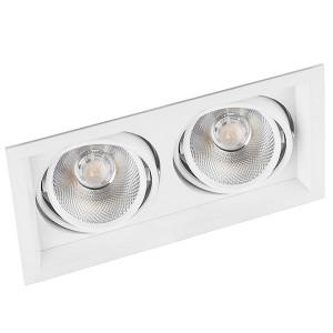 Карданный светодиодный светильник AL202 2x12W 4000K 2160Lm 35° белый