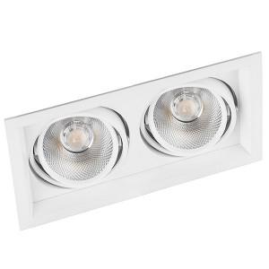 Карданный светодиодный светильник AL202 2x20W 4000K 3600Lm 35° белый