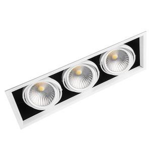 Карданный светодиодный светильник AL213 3x30W 4000K 8100Lm 35° белый