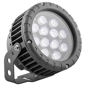 Светодиодный ландшафтно-архитектурный светильник LL-883 D150xH200 IP65 12W 85-265V зеленый/green