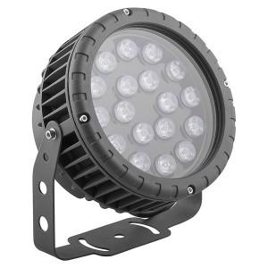 Светодиодный ландшафтно-архитектурный светильник LL-884 D180xH230 IP65 18W 85-265V зеленый/green