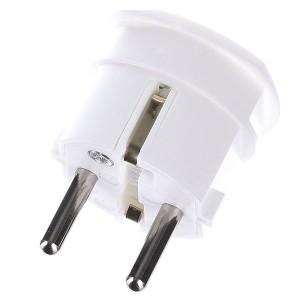 Вилка ABL термопласт 16A, 2P+E, 250V, подключение боковое (белый)