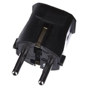 Вилка ABL термопласт 16A, 2P+E, 250V, подключение сзади (черный)