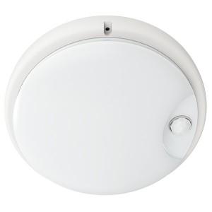 Светильник LED ДПО 4100Д 12Вт IP54 4000K круг белый ИК датчик движения IEK