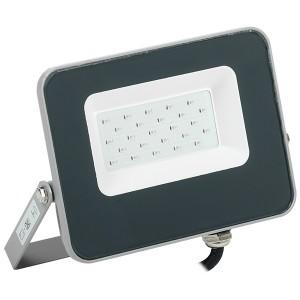 Прожектор LED СДО 07-20B 20W 230V blue IP65 серый IEK