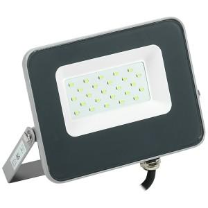 Прожектор LED СДО 07-20G 20W 230V green IP65 серый IEK
