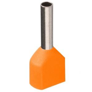 Наконечник кабельный НШвИ2 0,5-8 с изолированным фланцем оранжевый НГИ2 (100шт) ИЭК