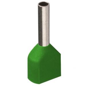 Наконечник кабельный НШвИ2 1,0-8 с изолированным фланцем светло-зеленый НГИ2 (100шт) ИЭК