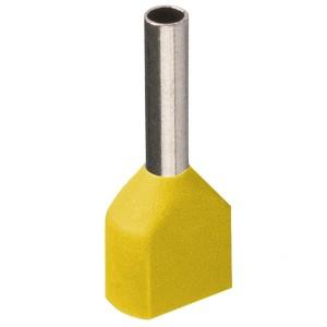 Наконечник кабельный НШвИ2 1,0-10 с изолированным фланцем желтый НГИ2 (100шт) ИЭК