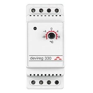 Терморегулятор Devireg 330, -10°C-+10°C с датчиком на проводе