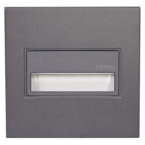 Светильник SONA Графит, теплый свет, в монтажную коробку, с квадратной рамкой 14V DC