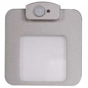 Светильник MOZA Алюминий, теплый свет, в монтажную коробку, 230V с датчиком движения