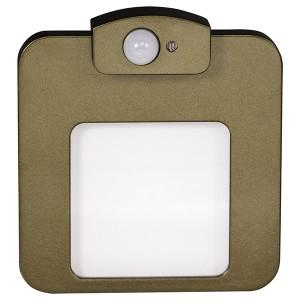 Светильник MOZA Золото, теплый свет, в монтажную коробку, 230V с датчиком движения