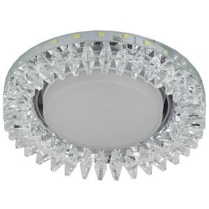 Декоративный светильник ЭРА DK LD20 SL/WH GX53 со светодиодной подсветкой, прозрачный