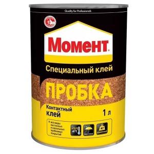 Специальный клей МОМЕНТ ПРОБКА 1л 805035 / 4600611219011