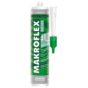 Герметик MAKROFLEX NX108 нейтральный силиконовый прозрачный 290мл 2005225 / 4600611218878